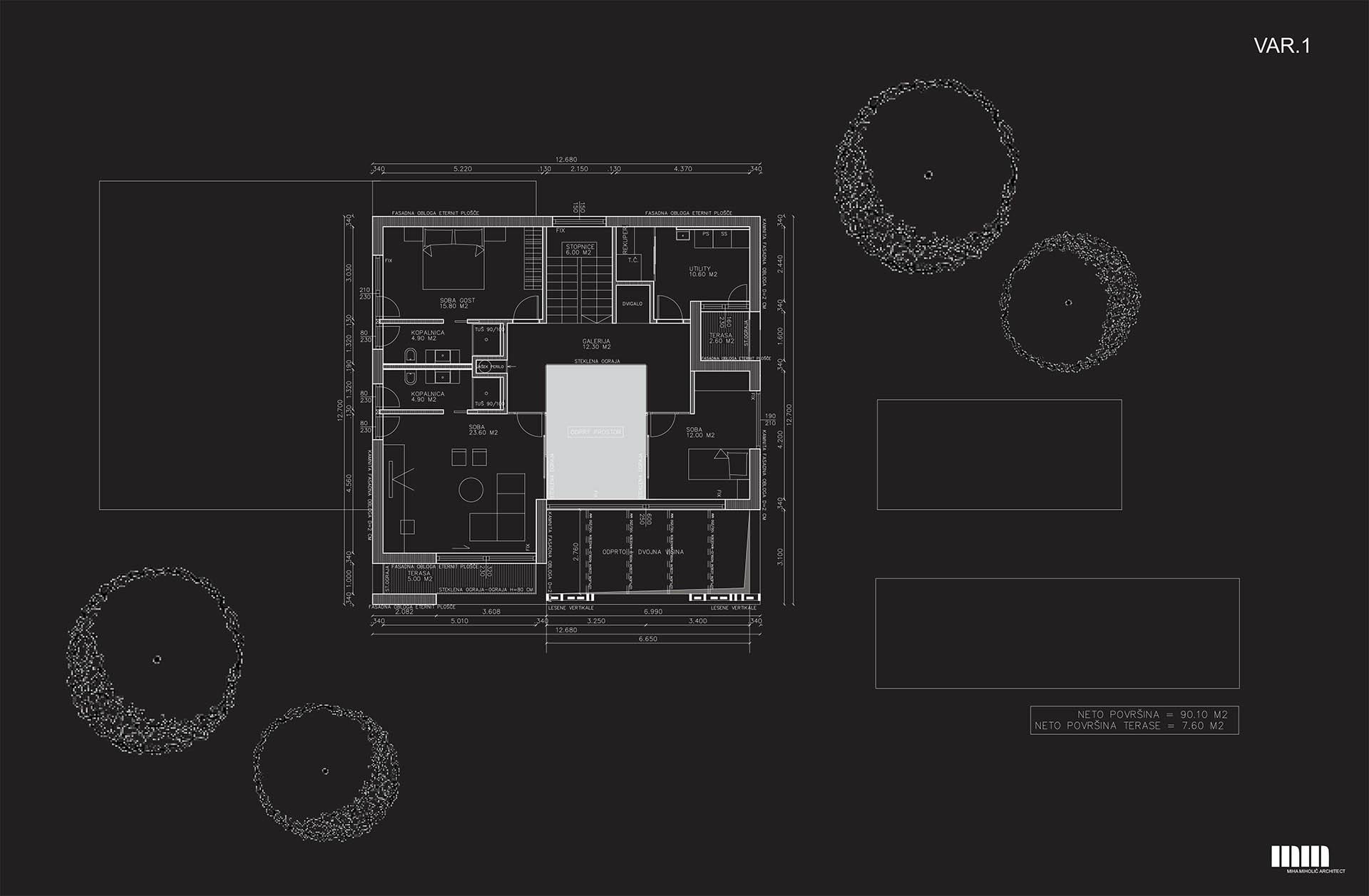 Tloris prvega nadstropja - var. 1