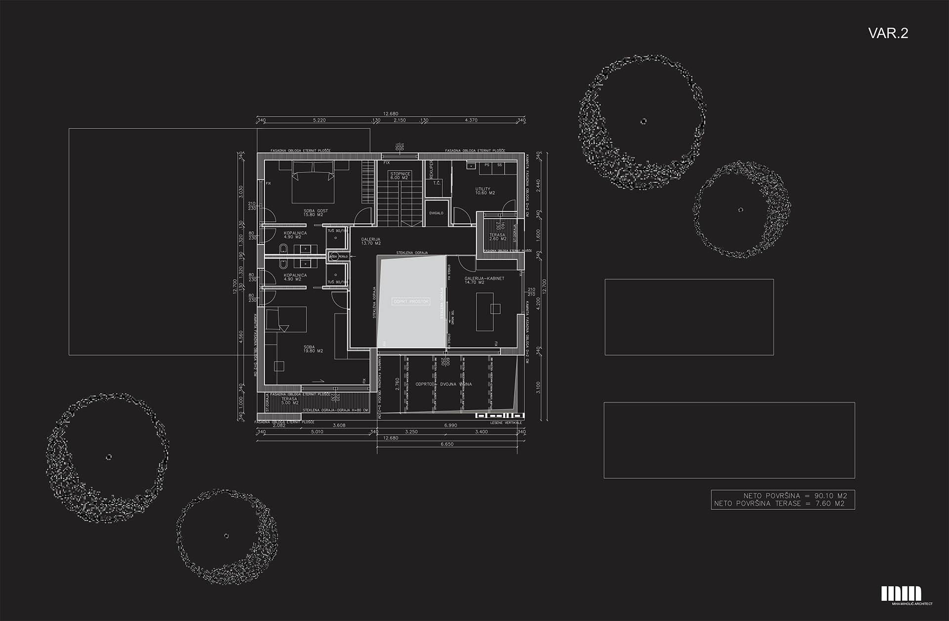 Tloris prvega nadstropja - var. 2
